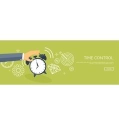 Flat date and time background vector image