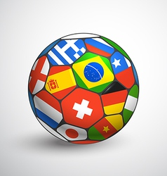 Football ball with different flags vector image vector image