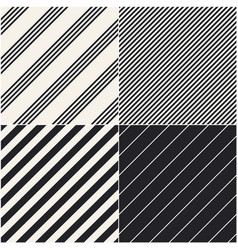 four diagonal patterns collection diagonal lines vector image vector image