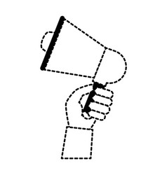 hand with megaphone audio isolated icon vector image