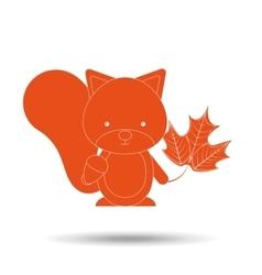 animals fall design vector image