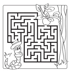 labyrinth maze for kids entry and exit children vector image vector image