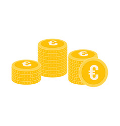 realistic coin icon design template gold coin vector image