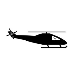 1343 helicopter icon vector image