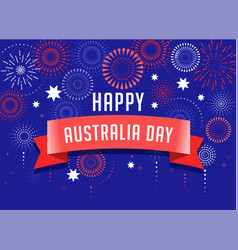 Australia day fireworks and celebration poster vector