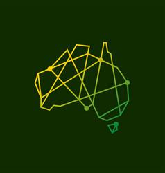 Australia tech connection logo icon vector