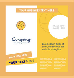 basketball company brochure template busienss vector image