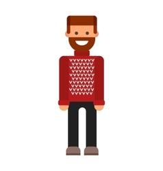 Beard man vector image
