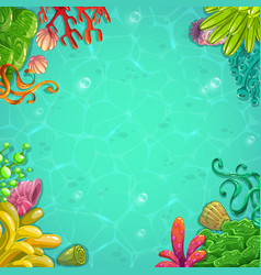 beautiful bright unferwater background vector image