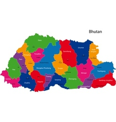 Bhutan map vector image