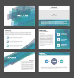 Blue purple presentation templates Infographic set vector