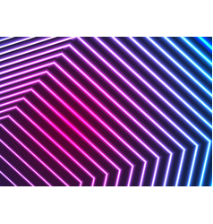 blue ultraviolet neon laser beam lines abstract vector image