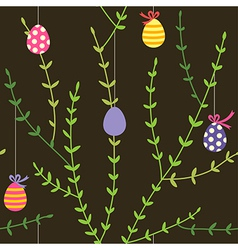 Branch easter pattern vector
