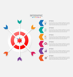 Business infographic template with 6 options vector