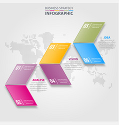 business infographics strategy design elements vector image