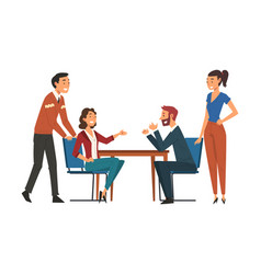Business negotiations business partners meeting vector