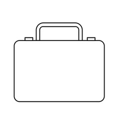 business suitcase portfolio document accessory vector image