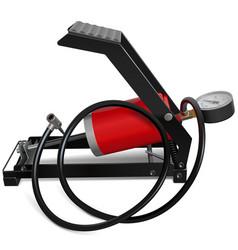 Car foot pump vector