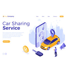 car sharing service concept vector image