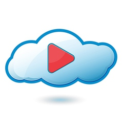 Cloud Play Icon Symbol vector image