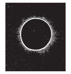 Corona of sun vintage vector