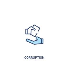 Corruption concept 2 colored icon simple line vector