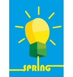 Creative idea in light bulb shape as inspiration vector