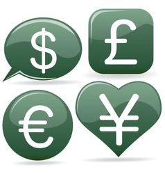 currency signs vector image