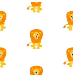 Cute lion seamless pattern vector image