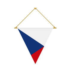 czech triangle flag hanging vector image