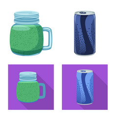 Design of drink and bar sign collection of vector
