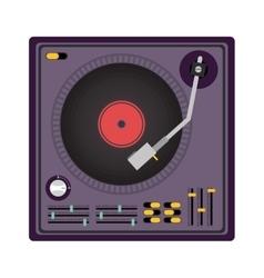 disc jockey design vector image