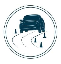 Driving school logo template vector image