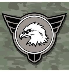 eagle head logo emblem template mascot symbol vector image
