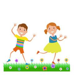 Featuring dancing kids vector