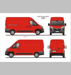 Fiat ducato cargo delivery van 2017 l2h2 vector