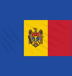 Flag moldova swaying in wind realistic vector