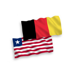 Flags belgium and liberia on a white background vector