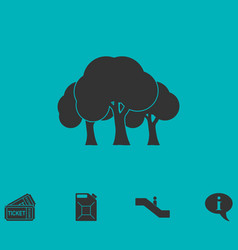 Forest icon flat vector
