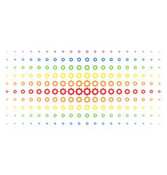 gear spectrum halftone array vector image