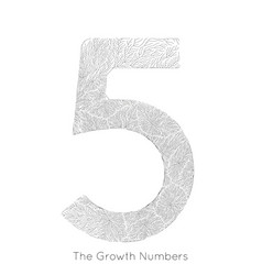 generative branch growth number 5 lichen vector image
