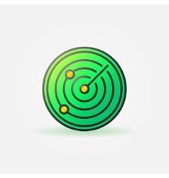 Glossy radar green icon vector image