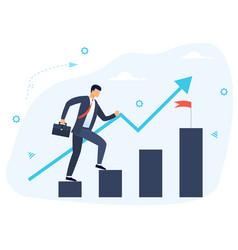 Goal achievement and success concept vector