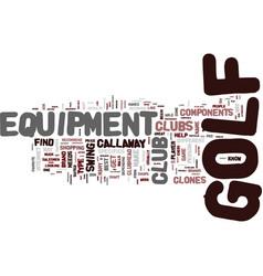Golf equipment is your equipment compatible vector