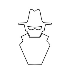 hacker cartoon symbol vector image