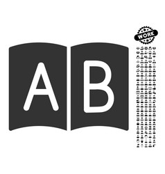 Handbook icon with work bonus vector