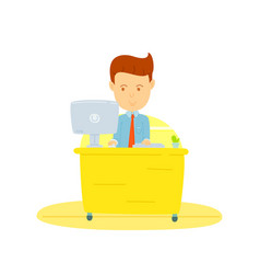 happy business man working in office business man vector image