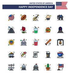 Happy independence day 4th july set 25 flat vector