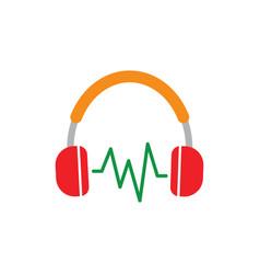 headphone headset icon good for audio gadget vector image