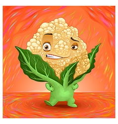 Hello my name is cauliflower vector